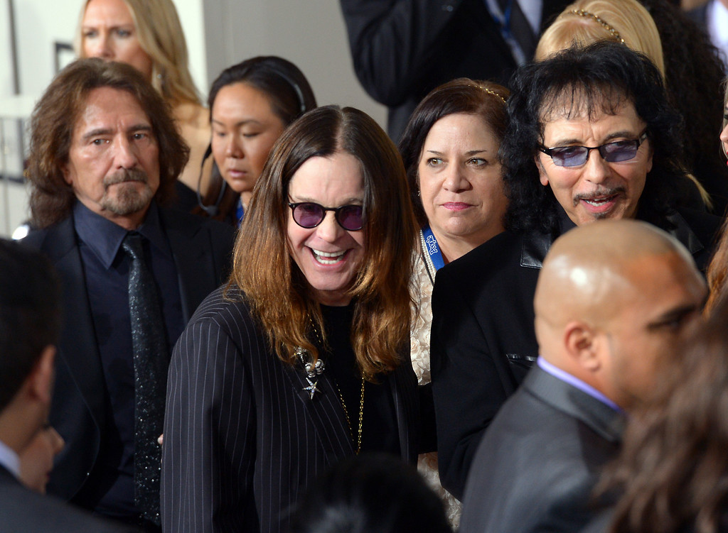 . Black Sabbath arrives at the 56th Annual GRAMMY Awards at Staples Center in Los Angeles, California on Sunday January 26, 2014 (Photo by David Crane / Los Angeles Daily News)