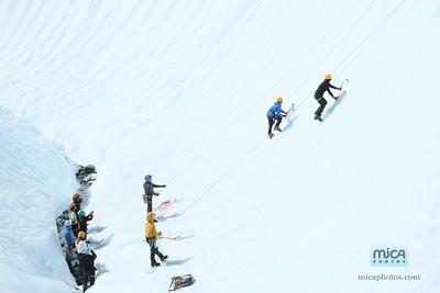Ice Climbing with Sam and Scott