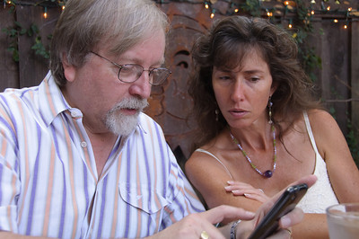 Breakfast with Cassidy, Jeanni and Jeanni's new iPhone in September 2009