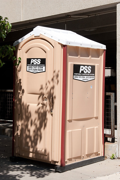 PSS, Portable Sanitation Systems, E. Capitol Ave and S. 8th St, Springfield, IL, right next to Lincoln Home National Historic Site, August 2012