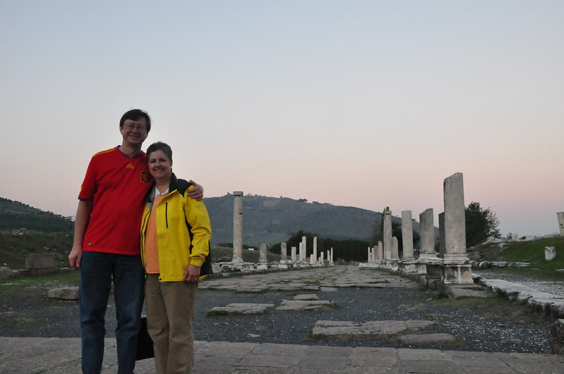 2010-10-24  275  Jay and Veronica at the Asklepieion, Near Pergamon