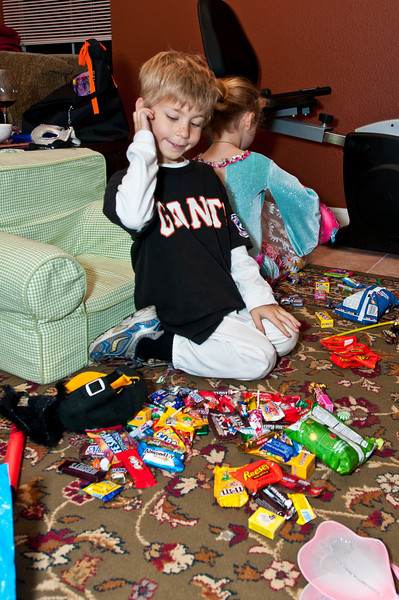 Jeremey's giant stash of candy. Too bad he can't eat it all!