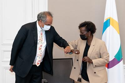 Monsieur Vêloyoudom MARIMOUTOU, Secrétaire général de la  Commission de l'Océan Indien - Paris