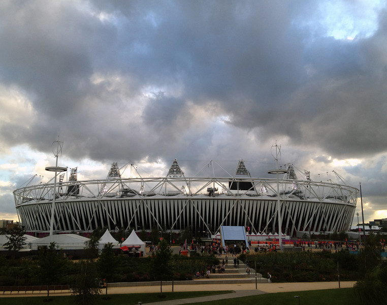 Views of Olympic Park. 200,000 were in the Park this day - ticket holders only
