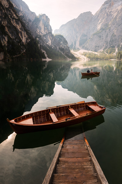 Lago di Braies cropped famous photo boats morning jetty stairs lake alps italy_1.jpg