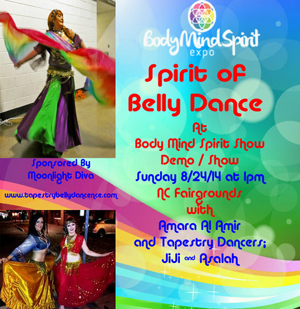 8-24-14 BMS Spirit of Belly Dance at Body Mind Spirit Expo