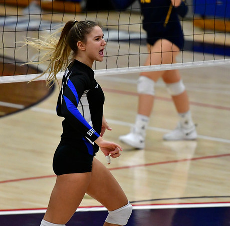 11/1/2018 Mike Orazzi | Staff Bristol Eastern's Zoe Lowe (7) during the CCC Volleyball Tournament at Avon High School Thursday night.