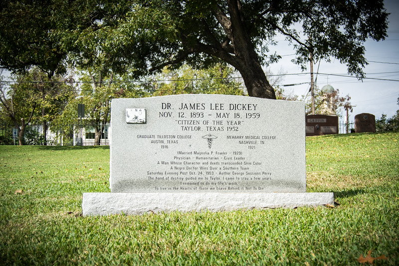 Dr. James Lee Dickey Cenotaph Dedication