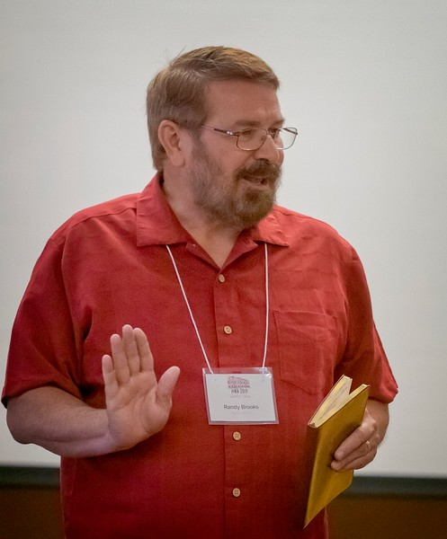 Randy Brooks presenting The Adventures and Discoveries of Editing The Collected Haiku of Raymond Roseliep.
