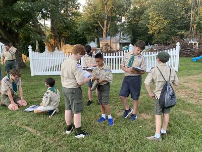 Troop meeting - 8-20-21