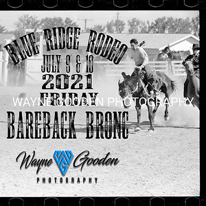 Friday Night Bareback Blue Ridge Rodeo