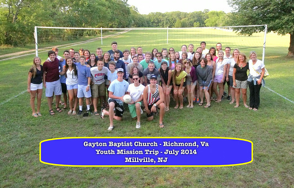 Gayton Baptist Youth Mission Millville 2014