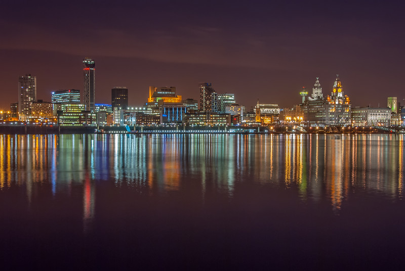 Liverpool Waterfront and River Mersey Reflections