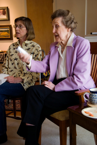 We heard about the success of Wii programs for seniors, so we thought we'd try it at home. It was a success!