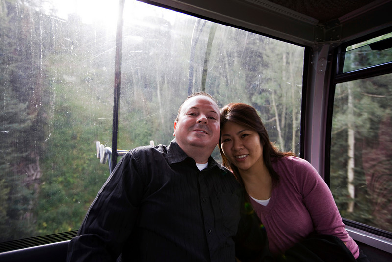 Tony and Stacy in the gondola.