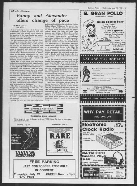 Summer Trojan, Vol. 93, No. 8, July 13, 1983