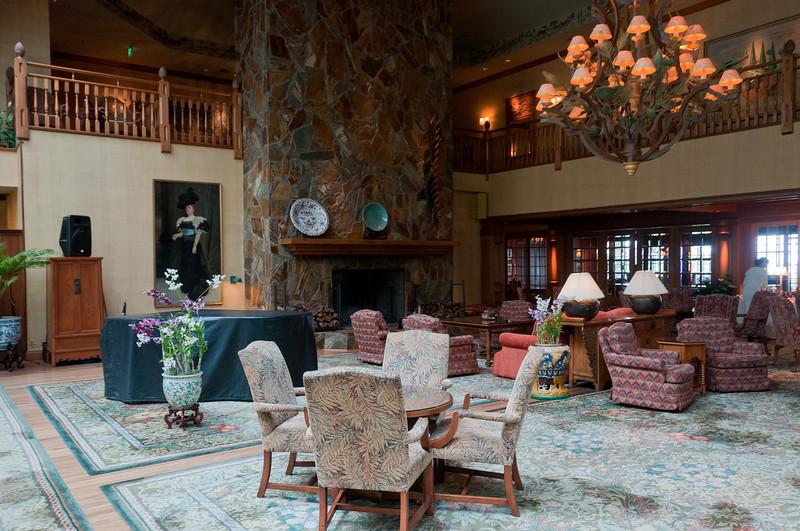 Lounge area in Four Seasons Resort in Lanai, Hawaii