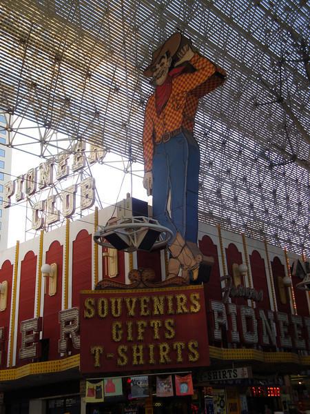 Downtown Las Vegas. The Pioneer Club.