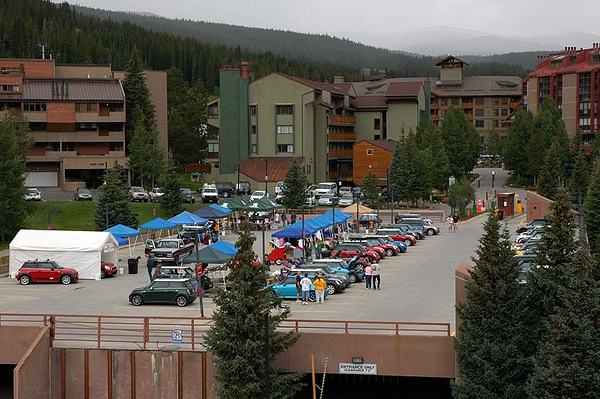 The top deck of the Copper Mountain Resort parking structure serves as MITM central.