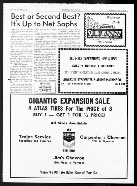 Daily Trojan, Vol. 57, No. 62, February 02, 1966