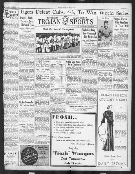 Daily Trojan, Vol. 27, No. 13, October 08, 1935