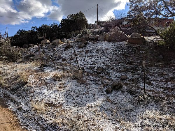 Payson Camping in the Snow