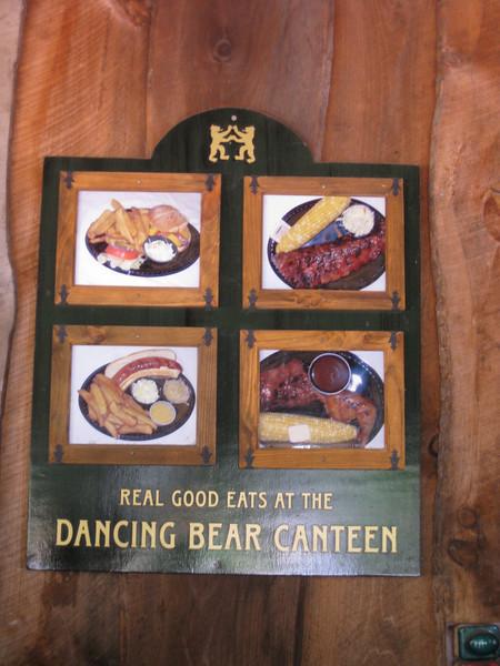 Dancing Bear Canteen advertisement.
