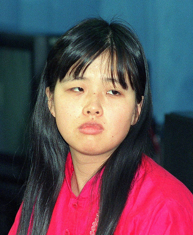 . Tomoko Matsumoto, wife of AUM Supreme Truth sect leader Shoko Asahara on October 25, 1990. Matsumoto was sentenced to seven years\' imprisonment on May 14 by the Tokyo District Court for conspiring with her husband and other cult members in the 1994 murder of a dissident member. AFP/Getty Images