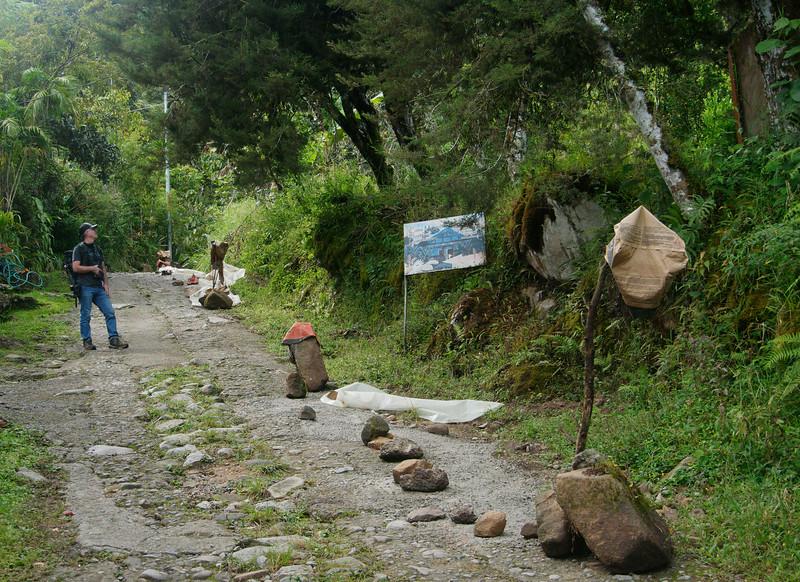 Locals build road