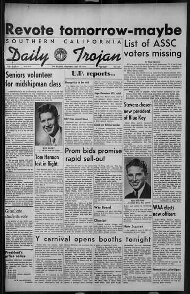 Daily Trojan, Vol. 34, No. 127, April 15, 1943