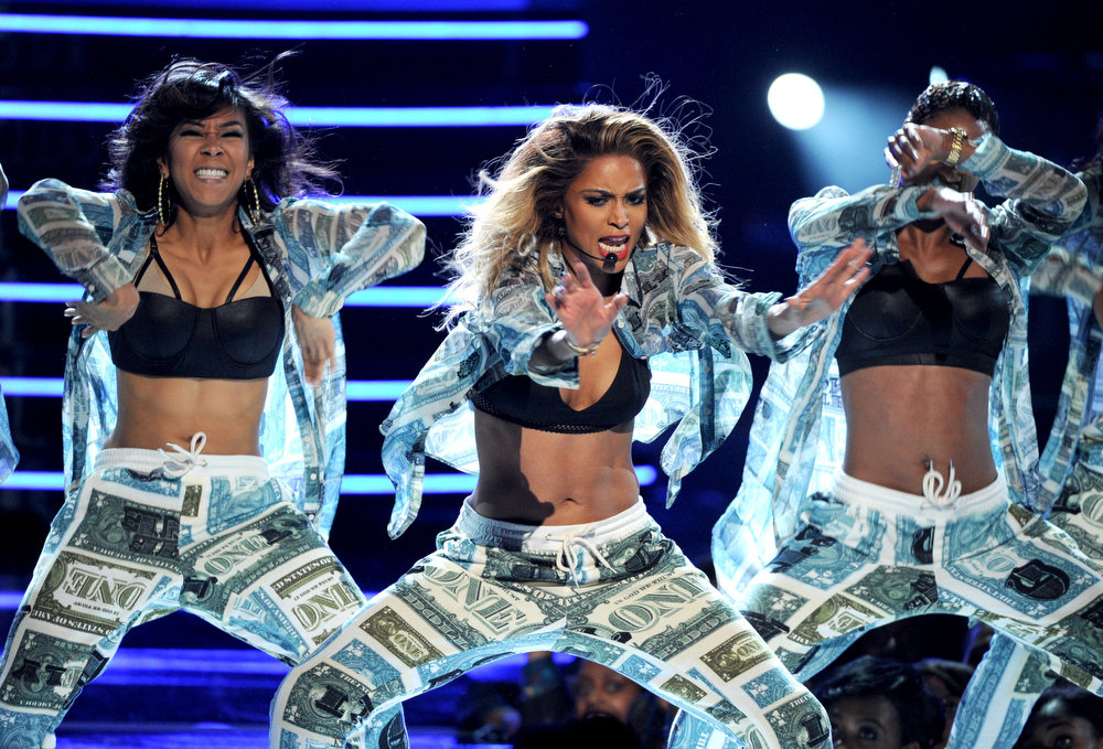 Description of . Ciara performs onstage at the BET Awards at the Nokia Theatre on Sunday, June 30, 2013, in Los Angeles. (Photo by Frank Micelotta/Invision/AP)