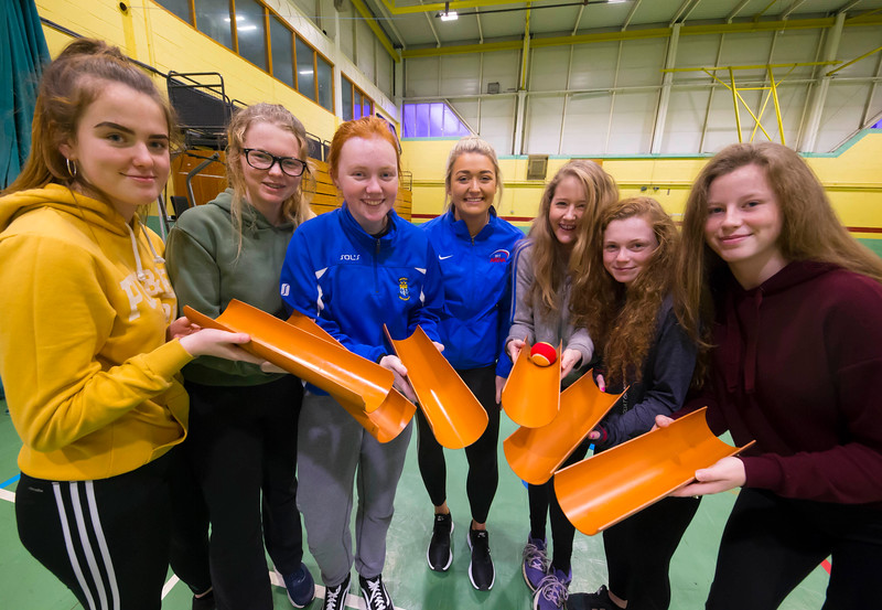 22/11/2017. Waterford Institute of Technology's (WIT) 'College Awareness Day. Pictured during the Drain Pipe Challenge are Ciara Phelan ,Ellen Arrigan, Aoife Casey Katie Houlihan, Erin Moloney, Sophie Fitzgerald from Mercy secondary School, Waterford with Aoife Brett (Centre) of WIT. Picture: Patrick Browne  Hundreds of secondary school students from across the South East celebrated College Awareness Week by attending Waterford Institute of Technology's (WIT) 'College Awareness Day' on Wednesday 22 November 2017. The events gave secondary school students a taste of college life and helped students of all ages to become 'college ready' by raising awareness of the benefits of going to college. There was an  hourly talk/workshop on how to become college ready (including presentations on college life), an expo area, and a chance to explore the campus. Students attended workshops on sport, electronics, sport and creative as well as presentations on college life at WIT, student supports, new courses for 2018, routes of entry and clubs and societies. They also got an overview of WIT's new common and broad entry courses for 2018.     Elaine Larkin Communications & PR Executive, Waterford Institute of Technology   Phone: +353 51 845577  Mobile: 087-7105148