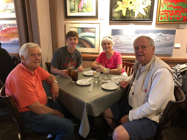 Roger — June 2018 (Ray, Penny and grandson, Matthew Downing vacation with Roger. Bill Bickels & Jessica Schultze
