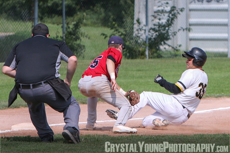 Brantford Red Sox at Kitchener Panthers Intercounty Baseball League Playoffs Round 1, Game 3 August 12, 2018