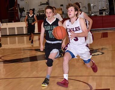 AMHS Varsity Boys Basketball vs L & G photos by Gary Baker