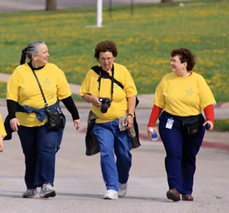 2010's walkers included some of the BackPack leaders: Bess Scott, Cynthia Wehland-Falk and Shari Styskal
