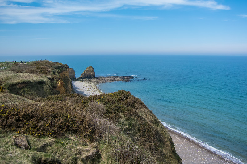 Point du Hoc, which Army Rangers scaled