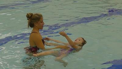Emma & Jaina Swimming Lessons 8/12