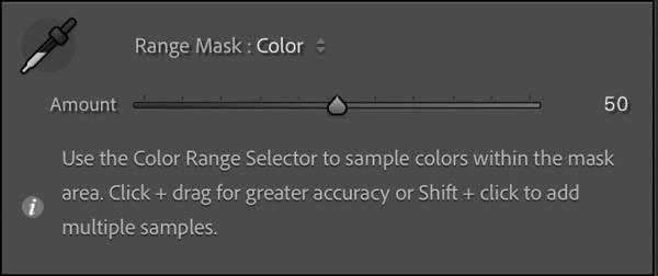 Color Range Mask Settings Panel