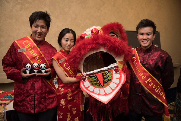 DAVID LIPNOWSKI / WINNIPEG FREE PRESS  (L-R) Alex Li, Anna Sun, and Roger Tran are Pavilion ambassadors for the Chinese Pavillion photographed at a Folklorama media call at the RBC Convention Centre Thursday July 21, 2016.
