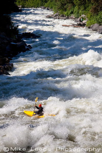 "Brian Ward entering ""Jacob's Ladder"" on the North Fork Payette River, Idaho.  Flows approx- 4,000-4,200cfs."