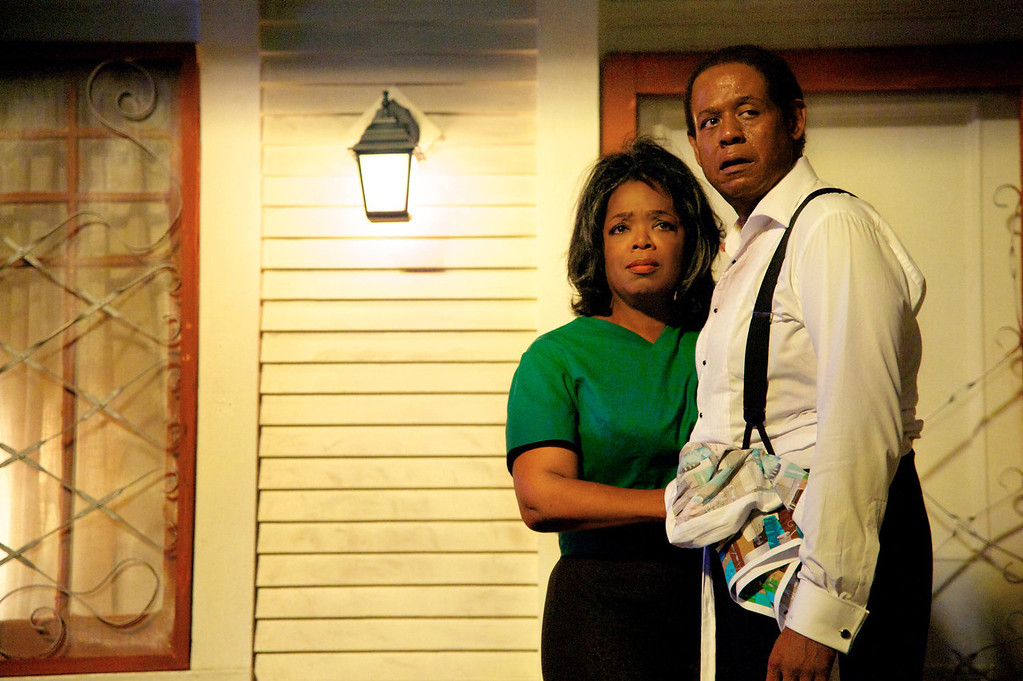 ". Oprah Winfrey as Gloria Gaines, left, and Forest Whitaker as Cecil Gaines in a scene from ""Lee Daniels\' The Butler.\"" (AP Photo/The Weinstein Company, Anne Marie Fox, File)"