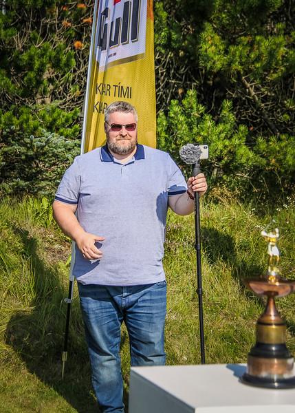 Kristján Jónsson, blaðamaður á Morgunblaðinu.  Íslandsmót golf 2019 Grafarholt - 1. keppnisdagur. Mynd: seth@golf.is