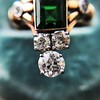1.01ctw Victorian Emerald (syn) and Diamond Dinner Ring 20