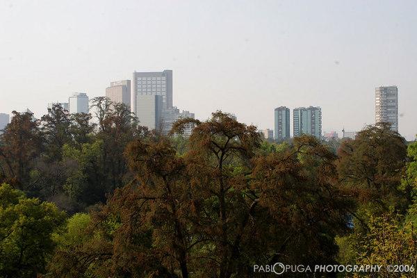 Mexico City from Torre Mayor & Chapultepec Castle