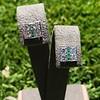 Art Deco Diamond and Emerald Disc Earrings 47