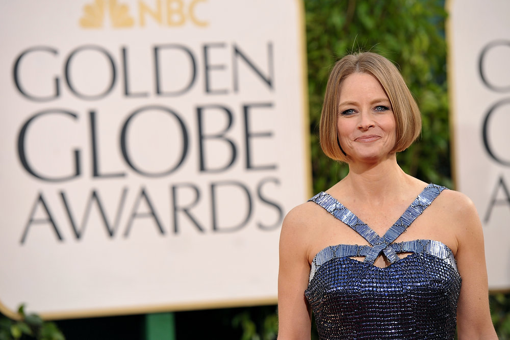 Description of . While Jodie Foster's dress matches the latest trends, it doesn't make a good match for her landing her as the runner-up to worst dressed at the 70th Annual Golden Globe Awards at the Beverly Hilton Hotel on Sunday Jan. 13, 2013, in Beverly Hills, Calif. (Photo by John Shearer/Invision/AP)