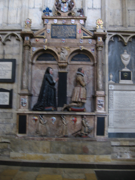 Tomb dated 1611, York Minster