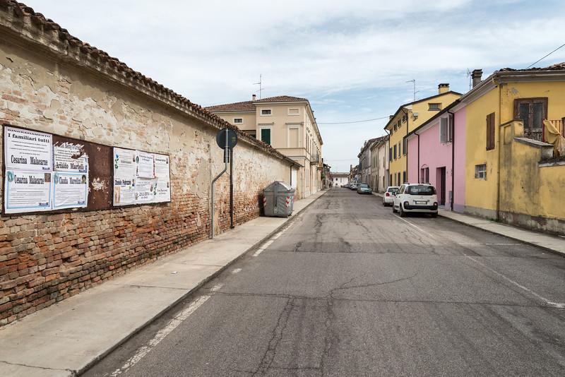 Via Giuseppe Garibaldi - Pomponesco, Mantua, Italy - March 29, 2015