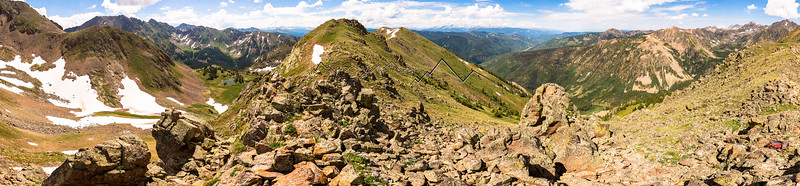 Pitkin and Booth Drainages, Gore Range, CO